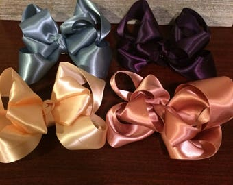 Double stack hair bows