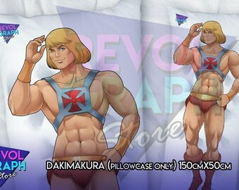 Fullbody pillow case - He man Master of the Universe 150x50cm