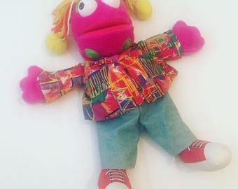 Vintage 1993 Zig and Zag - Zag Hand Puppet