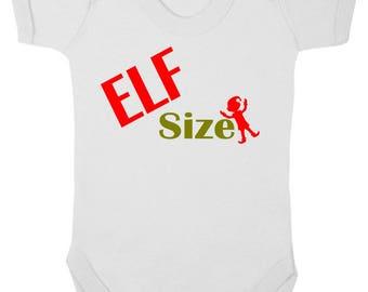 baby Grow Elf Size Christmas Baby Grow