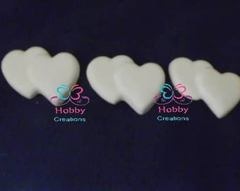 Chalks white perfumed in the shape of two hearts for confirmation favor, baptism, communion, marriage, Christmas – Gift Idea