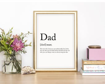 Dad Wall Print - Wall Art, Home Decor, Fathers Day Print, Parent Print, Dad Print, Daddy Print