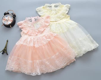 A fairy tale collection girls Toddler Kids lace birthday party dress