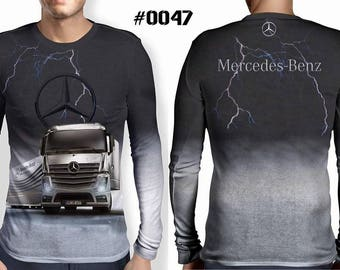 New ultramodern 3D  High Quality  Mens  Long Sleeve Black T-shirt MERCEDES BENZ