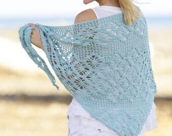 Women's shawl, crochet shawl, alpaca wool shawl shawl, shawl, etivo, handmade