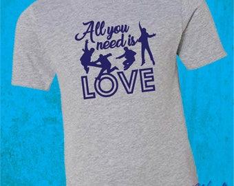 Beatles Love Tshirt -  Kids Youth Love Shirt - Valentine's Day Shirt - Youth Beatles Shirt - Beatles Gift - Love Tee