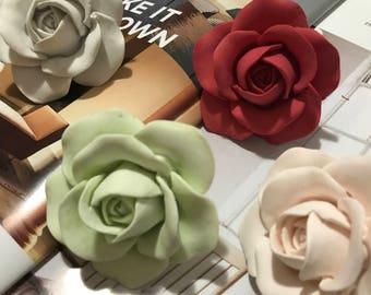 3D Real Rose Perfume Plaster /Car Air Freshener /Plaster Air Freshener / Ornament / handmade /diffuser /Car interior/ car vent clip