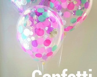 Confetti Balloons  - Whimsical... 3 Different sizes to choose from 30cm , 43cm and Jumbo 90cm