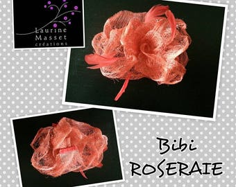 Lee Masset hair accessory rose fascinator