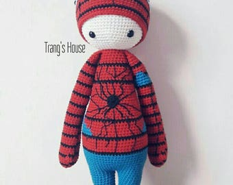 Crochet Lalylala Spiderman - Amigurumi Stuff Plush - MADE TO ORDER