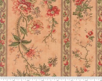 Moda Fabrics - Courtyard Rose - Floral Blooming Trellis by 3 Sisters - 100% Cotton - 12 Yards Continuous Available