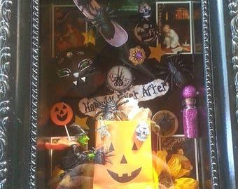 Halloween themed shadow box