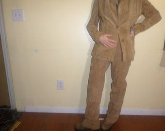 All Suede Leather Suit