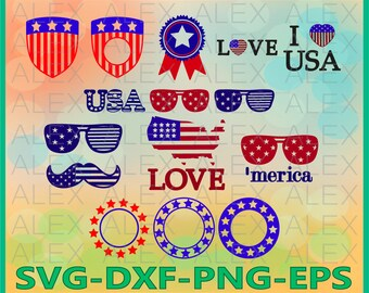 70% OFF, Independence day Svg, Patriotic Svg, American Flag Svg Files, Dxf, Png, Eps File, Patriotic Monogram Svg, Silhouette