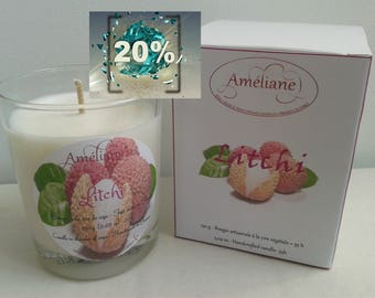 Bougie parfumée Litchi / Scented candle Litchi