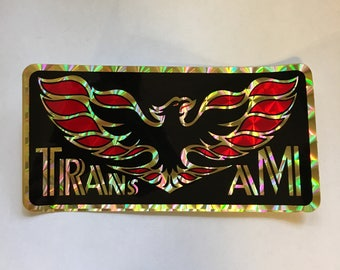 Pontiac TRANS AM Screamin Chicken Flames Large Decal Mint Item MoPaR Iridescent Coloring Shines