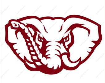 Alabama Crimson Tide Elephant svg Cutting File in Svg Eps Dxf Png Ai for Studio for Cricut & Silhouette