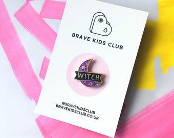 Purple Witch Pin