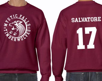 The Vampire Diaries Salvatore 17 Timberwolves Mystic Falls Hoodie Unisex Women's Men's Children's