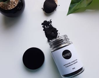 Activated Charcoal Cleansing Grains, Facial Cleanser, 100% Natural - 50g