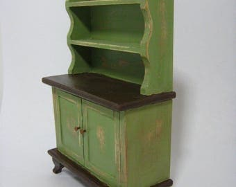 Dollhouse Miniature Kitchen Cabinet Cupboard Sideboard 1:12 Scale Wood Hand Painted