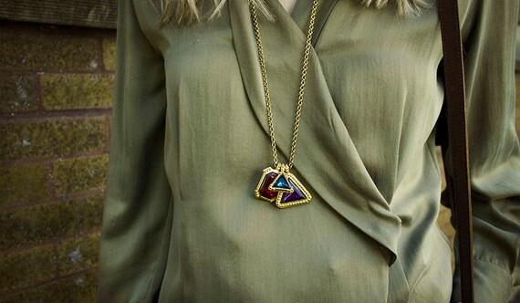Jewel Tone Charm Necklace