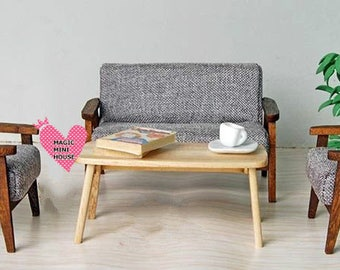 Dolls House Miniature Living Room Sofa Set-3pcs
