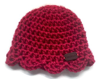 Baby Hat, Crochet Hat, Red Baby Hat, Handmade Baby Hat, Baby Shower Gift, New baby Gift, Cute Baby Hat, Crochet Beanie, Baby Beanie