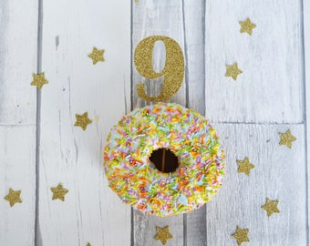 9th Birthday Cupcake Toppers, 9th Birthday Party, Number Toppers, Kids Party Decor, Party Supplies, Cake Decorations, Glitter Cake Topper
