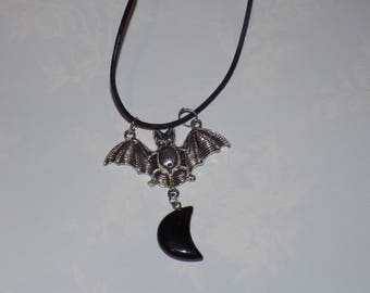 love bat necklace