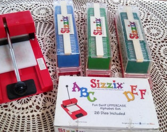 Sizzix Die Cut and Alphabets