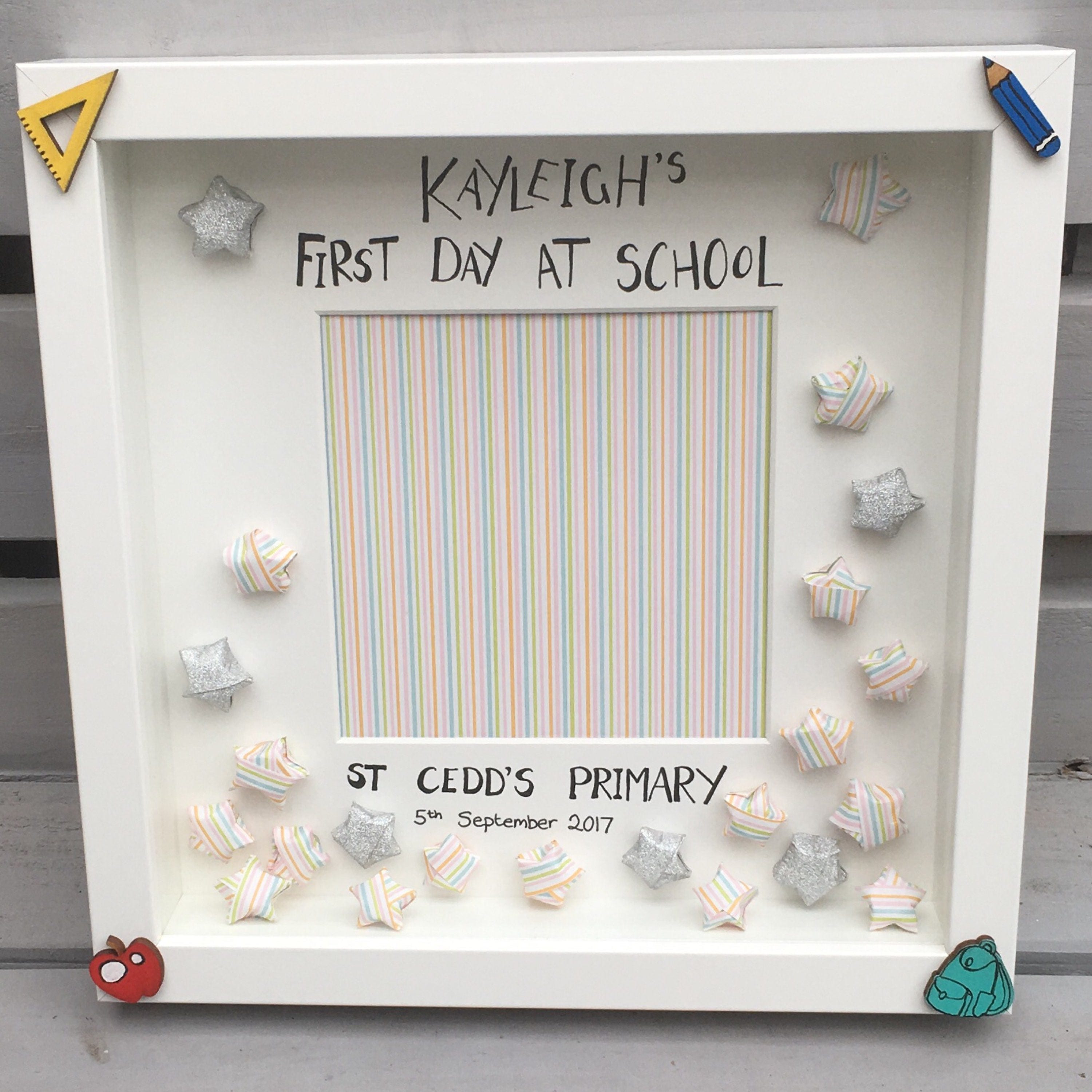 First Day at School Frame from UniqueByTracy on Etsy Studio
