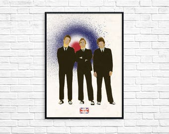 The Jam Paul Weller Mods Modfather Retro Style Picture Art Poster Print