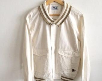 MEGA SALE Vintage Fila Jacket Casual Mod Hip Hop Jacket