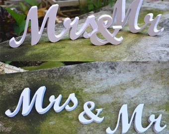 Sweetheart Table Mr And. Mrs Sign and Mr and Mrs Table Sign mr and mrs ,mr and mrs  sign,Wedding sign set. Sweetheart table decor wooden
