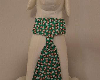Dog Collar Tie - Snowmen - Large