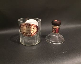 Hancock's President's Reserve  Bourbon Whiskey Soy Candle With/Without Base. Buffalo Trace Distillery. 750ML. Made to Order!!!