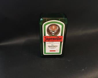 1 Liter vs 750ML Jagermeister BOTTLE Soy Candle With/Without Pedestal Base. Made To Order !!!!!