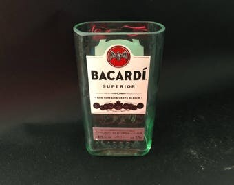 375ML vs 750ML Bacardi Candle Silver Rum  Bottle Soy Candle. Made To Order !!!!!!!