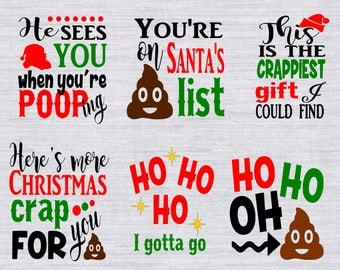Christmas Toilet Paper SVG Bundle, DXF, EPS, png Files for Cutting Machines Cameo or Cricut - Christmas Svg, Toilet Paper Svg, Poop Svg