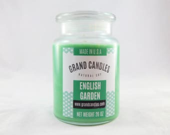 English Garden Candle | Soy Candles | Scented Soy Candle | Candles | Aromatherapy | Scented Candles | Candle | Vegan Candle | Soy Wax