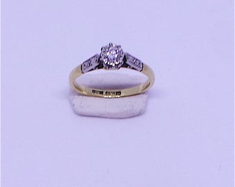 Diamond Engagement Ring in 18 carat gold