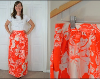 Light orange 3d flower maxi dress