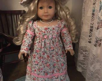 Floral Chemise Dress for 18 inch doll American Girl Caroline
