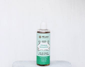 All Love Collections Organic Herbal Shampoo (8oz)