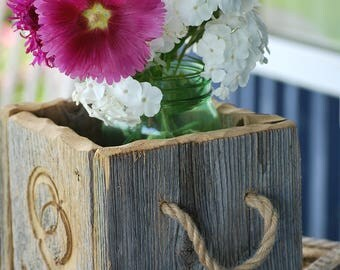decorative box for wedding wooden engagement/reclaimed barnwood/wood