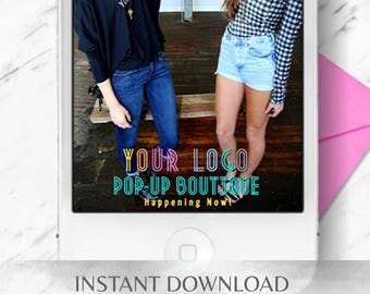 LLR Pop-Up Boutique Snapchat Geofilter - INSTANT Download Template