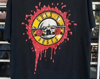JULY SALE 20% OFF Vintage 1991 Gun n' Roses T Shirt Here Today Gone To Hell Promo Tour Concert sz m good condition