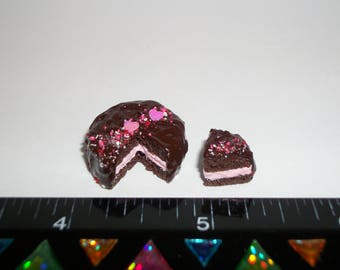 1:12 One Inch Scale Dollhouse Miniature Handcrafted Valentine's Day Dessert Cake Doll Food