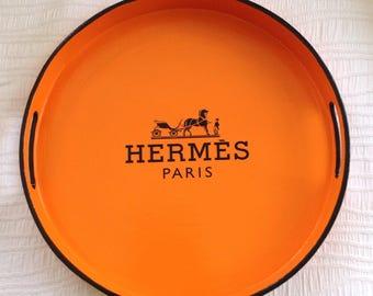 H Paris Round Glossy Tray